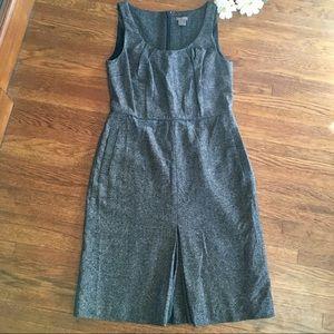 Ann Taylor wool silk tweed shift dress POCKETS 4